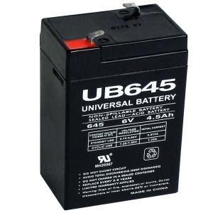 Home Depot Batteries Upg Sla 6 Volt F1 Terminal Agm Battery Ub645 The Home Depot