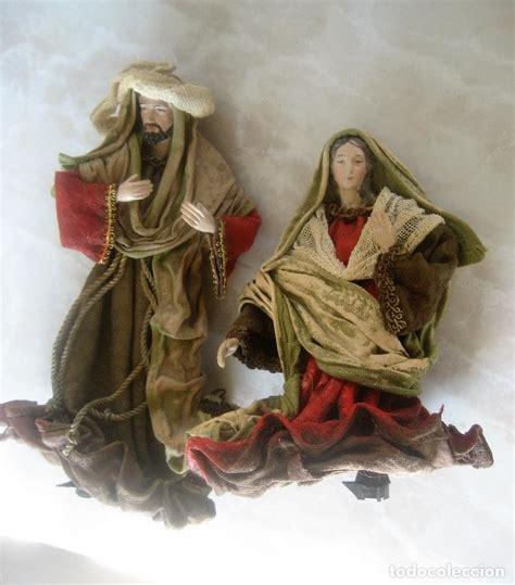 imagenes de la virgen maria en belen 2 figuras de bel 233 n san jos 233 y la virgen mar 237 a comprar