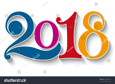 happy new year element vector design happy new year 2018 year 2018 stock vector 769580413