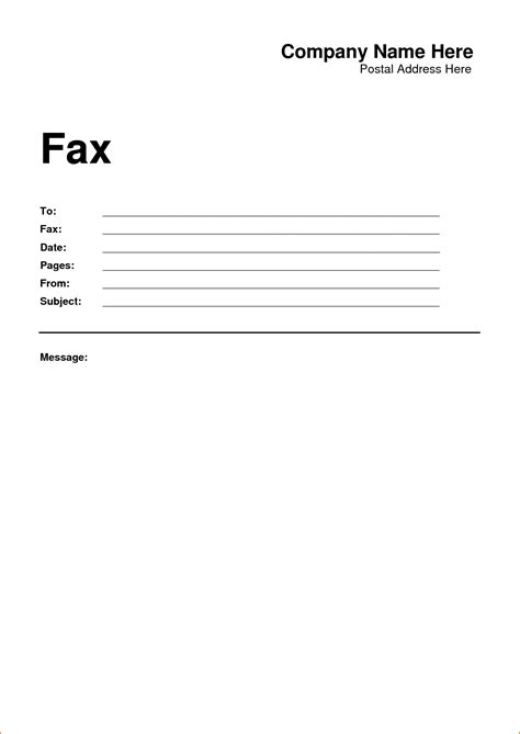fax cover page free fax cover sheet professional design