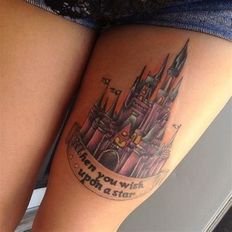disney castle tattoo when you wish upon a disneyland castle disney
