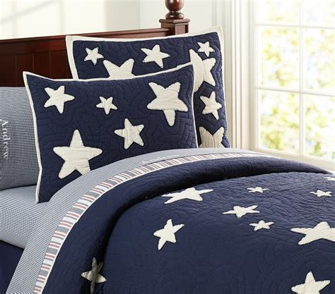 star bed star quilted bedding pottery barn kids