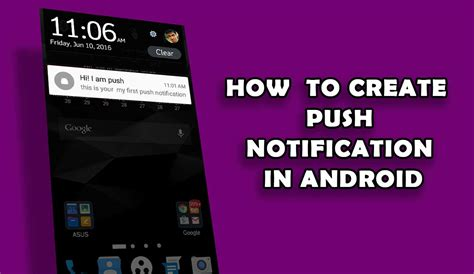 how to make android how to create a push notification in android studio uandblog