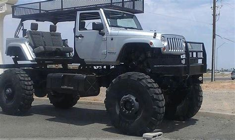 huge jeep wrangler jeep wrangler highly modified real trucks pinterest