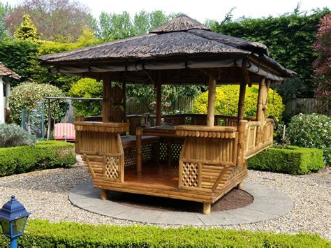 Bamboo Gazebo by Bamboo Gazebo Square 10ft X 10ft