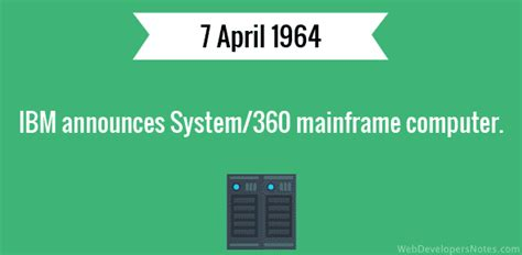 360 for computer ibm announces system 360 mainframe computer