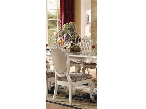 chantelle marble top pearl white dining table set shop