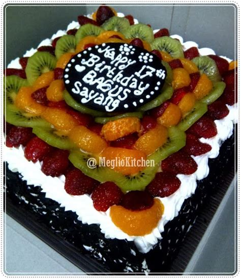 Box Tart Kue Ulang Tahun Birthday Cake Murah 10 Inci Tebal Tatakan Blackforest Fruit Kue Ulang Tahun Jogja Toko Kue Jogja Meglio Kitchen