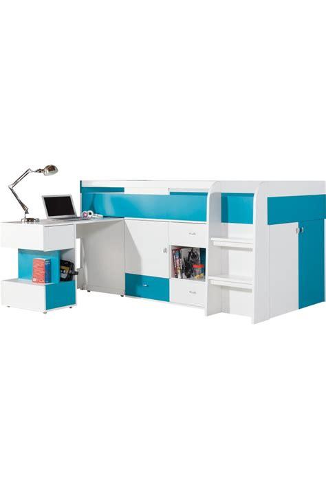 letto con scrivania letto a soppalco con scrivania mobby 200x90 cm