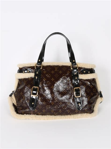 Louis Vuitton Monogrammed Shearling Handbag by Louis Vuitton Thunder Monogram Shearling Bag Luxury Bags