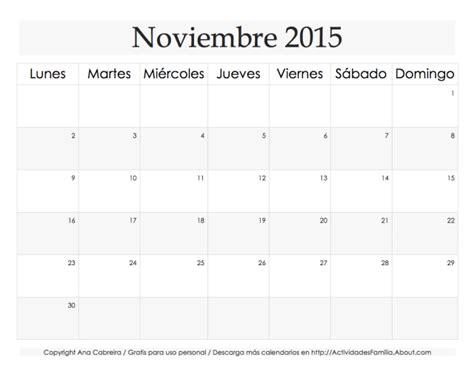 calendario de noviembre de 2015 image gallery noviembre 2015