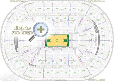 Td Garden Seat Map by Boston Td Garden Seat Numbers Detailed Seating Plan