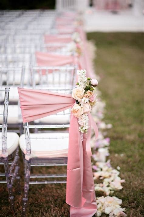 Chair Decorations by Ceremony Chair Aisle Decor Wedding Decorating Ideas