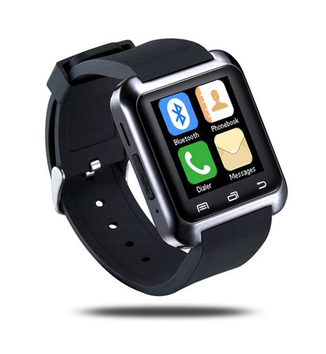 smart watches for android 2015 bluetooth u80 mtk wristwatch for iphone6 samsung smart android phone 2 pcs lot jpg