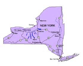 Map Of New York State With Major Cities by Maps For Design Us States Maps New York State