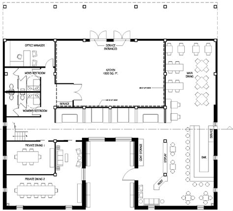 restaurant kitchen floor plans nicole neill s portfolio turquiose restaurant