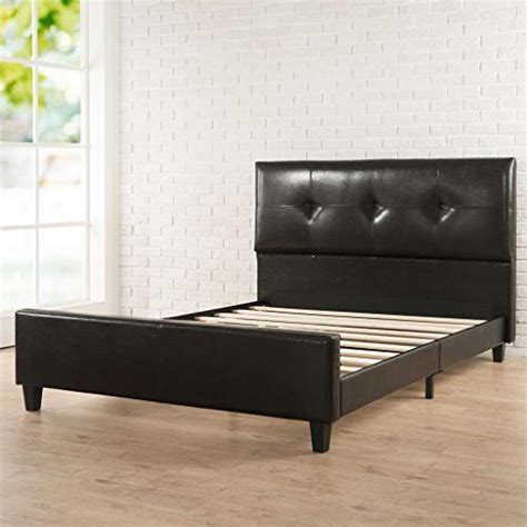 Platform Bed Slats Zinus Tufted Faux Leather Platform Bed With Footboard And Wooden Slats Mattress News