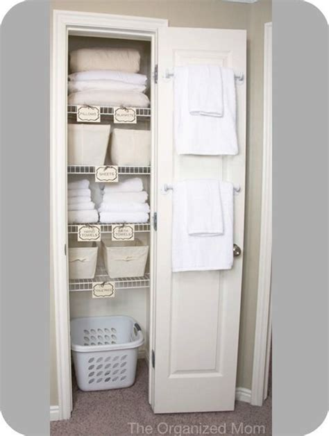 guest bathroom linen closet storage ideas organization