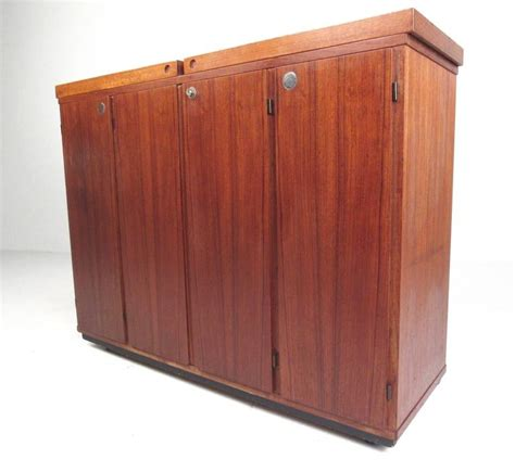 Expandable Bar Cabinet Mid Century Modern Teak Expandable Bar Cabinet For Sale At 1stdibs