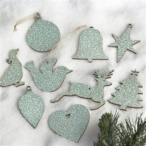 vintage duck egg blue christmas and wedding decorations by