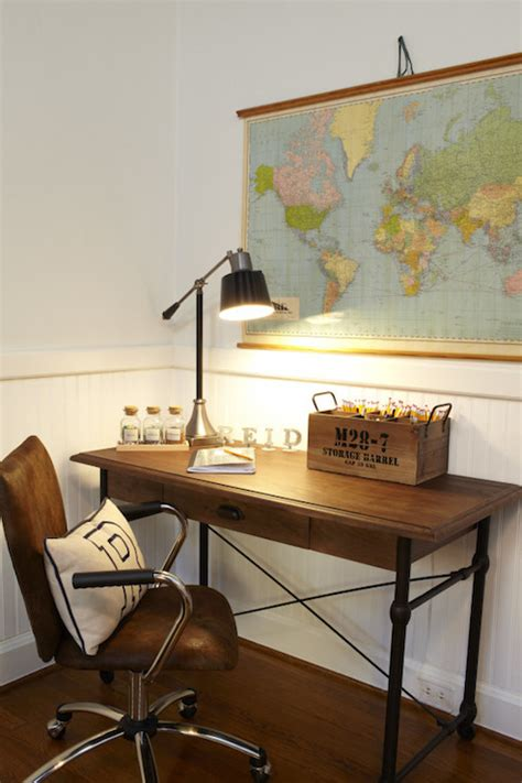 iron and wood desk traditional boy s room a well
