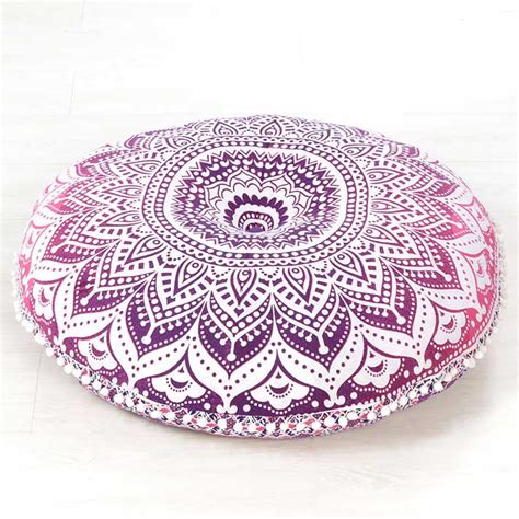 pink mandala bohemian hippie floor pillow cushion cover mandala throw  mandala floor