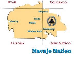 navajo nation map arizona navajo nation map my