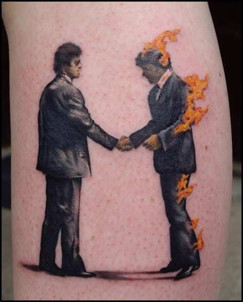 when were tattoos invented the cover of wish you were here by pink floyd made