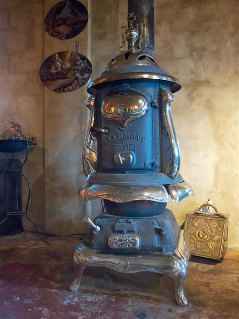 Fireplace With Tv Inside by Clermont No 136 Pot Belly Stove Photograph By Mary Lee Dereske