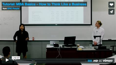 Mba Fundamentals Pdf by Tutorial Mba Basics How To Think Like A Business Epic