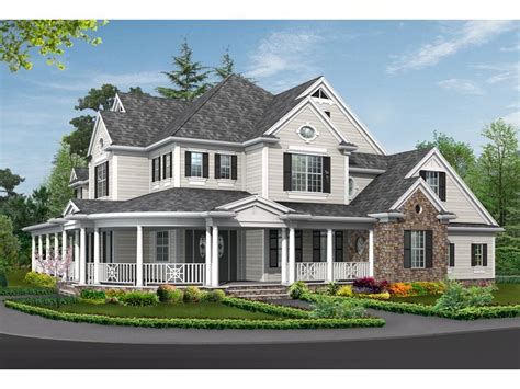 southern style house plans with wrap around porches brick