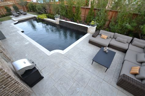 contemporary pools trophy club contemporary pool with slate water wall