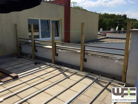 Terrassendielen Unterkonstruktion Balkon by Bilder Wpc Aluminium Alu Unterkonstruktion F 252 R