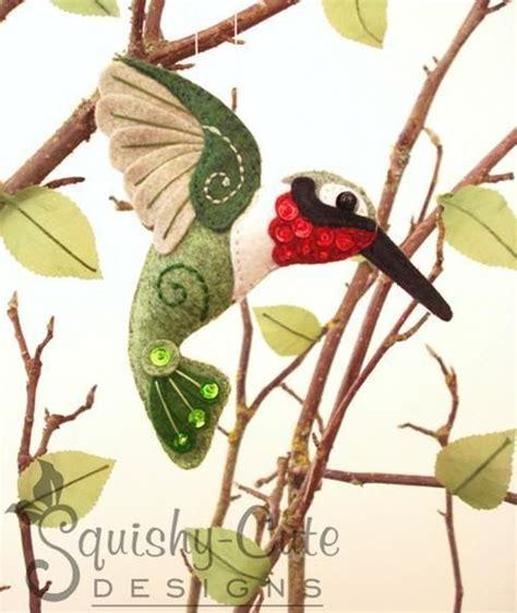 felt hummingbird pattern top 40 felt ornaments for christmas christmas