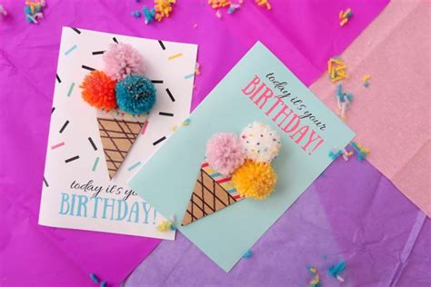 printable birthday cards diy 13 diy birthday cards that are too cute shelterness