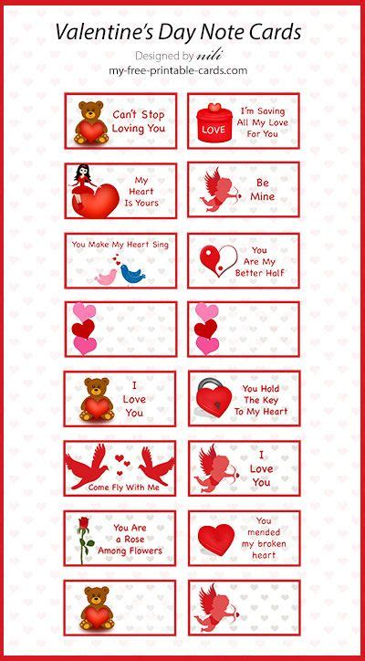 printable valentine note cards 66 best images about printable valentine cards on
