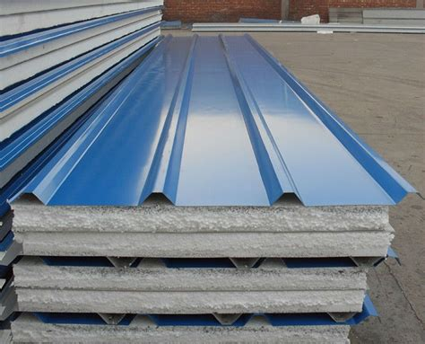 Sandwich Panel Eps Styrofoam Perforated Corrugated Metal Roofing Eps Sandwich