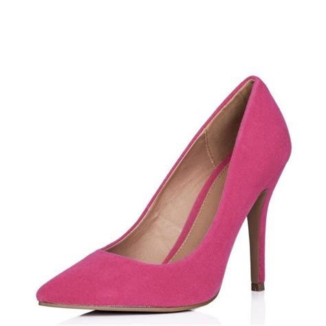 buy moku stiletto heel pointed toe court shoes pink suede