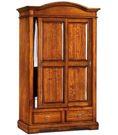 armadio ante scorrevoli legno armadio legno 2 ante scorrevoli 2 cassetti noce spazio casa