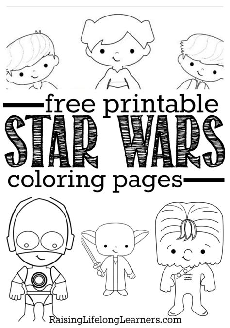 free coloring pages wars characters free printable wars coloring pages for wars fans