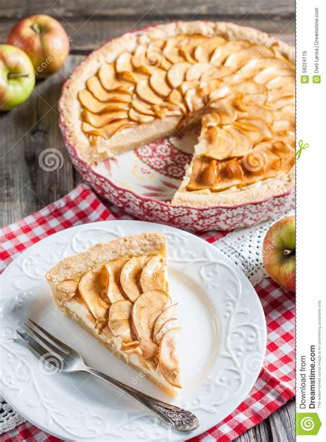 Apple Pie Cottage by Apple Pie With Cottage Cheese Stock Image Image 58224115