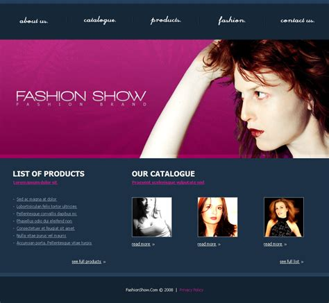 Pm00015 Fashion Show By Petermik Themeforest Fashion Website Template