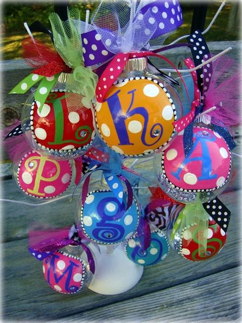 Handmade Personalized Ornaments - ornaments celebrate