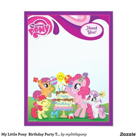 my pony thank you card template my pony birthday invitations template resume builder