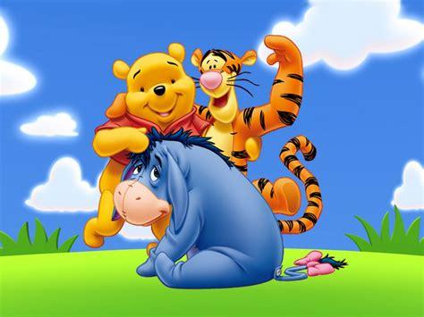 winnie  pooh  friends eeyore tigger cartoon art images widescreen