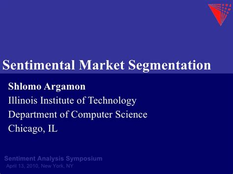 sentimental market segmentation shlomo argamon