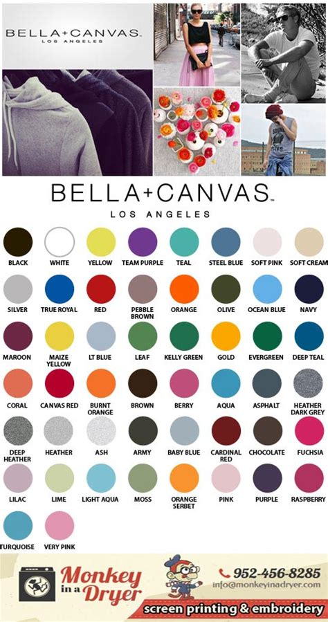 canvas color canvas swatch color chart monkey in a dryer