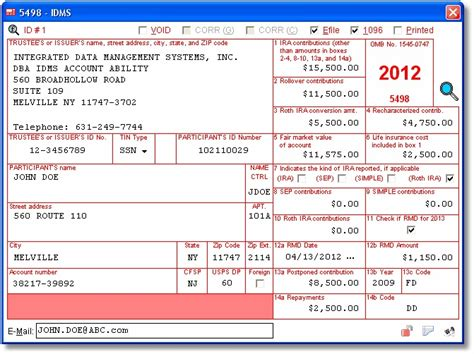 irs section 6050w 5498 user interface ira contribution information data is