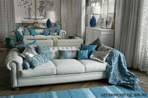 azul petroleo  gris decoracion de salas