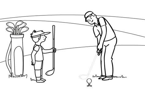 dibujos de niños jugando golf golf dibujo para colorear e imprimir
